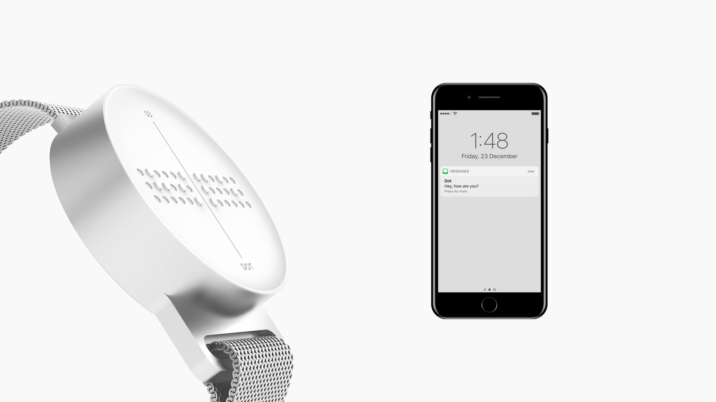 Sol tarafta bir akıllı saat, sağında da bir akıllı telefon görüntüsü