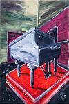 Üzeri Örtülü Bir Kuyruklu Piyano Tablosu Görüntüsü